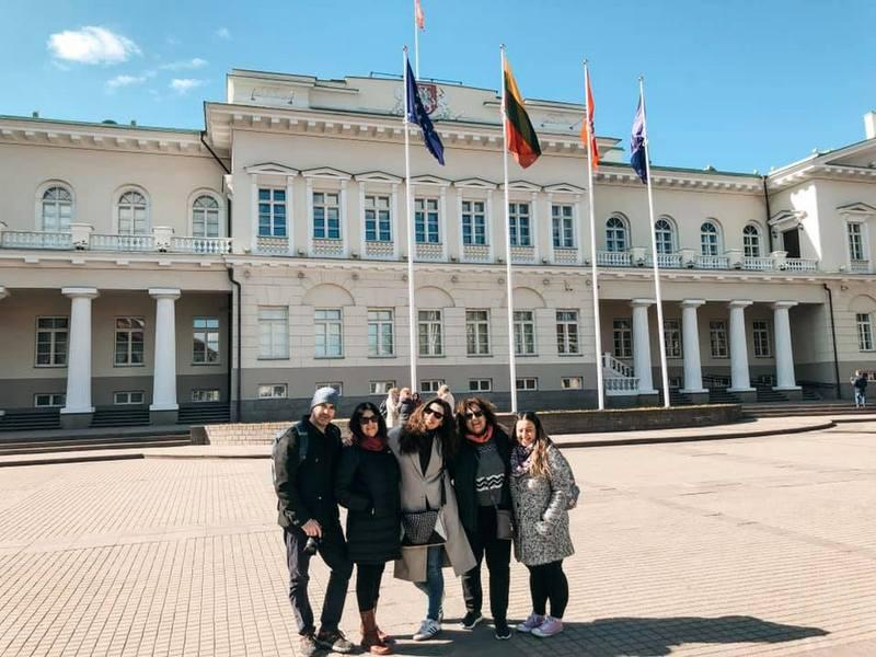 travel bloggers in Vilnius